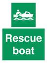 <p>Rescue boat</p> Text:
