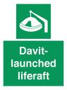 <p>Davit-launched liferaft</p> Text: