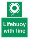 <p>Lifebuoy with line</p> Text: