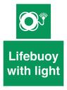 <p>Lifebuoy with light</p> Text: