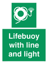 <p>Lifebuoy with line and light</p> Text: