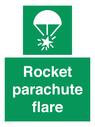 <p>Rocket parachute flare</p> Text: