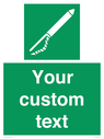 <p>Custom sign safe Line throwing appliance</p> Text: