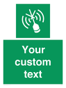 <p>Custom sign safe condition Emergency position beacon</p> Text: