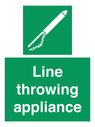 <p>Line throwing appliance</p> Text: