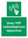 <p>2way VHF radiotelephone apparatus</p> Text: