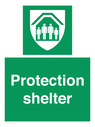 <p>Protection shelter</p> Text:
