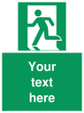 pcustom-emergency-exit-left-sign-add-your-own-custom-text-normal-delivery-times-~