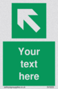 custom-arrow-top-left-sign-add-your-own-custom-text-normal-delivery-times-apply-~