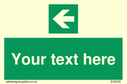 custom-arrow-left-sign-add-your-own-custom-text-normal-delivery-times-apply-gree~