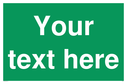 pcustom-blank-safe-condition-sign---white-text-on-green-backgroundp~