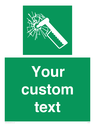 <p>Custom sign safe condition emergency hammer</p> Text: