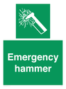 <p>Emergency hammer</p> Text: