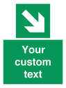 <p>Custom Safe Condition Down right arrow </p> Text: