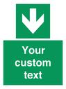 <p>Custom Safe Condition Down arrow</p> Text: