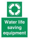<p>Water life saving equipment</p> Text: