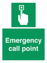 <p>Emergency call point</p> Text: