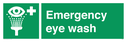 eye wash symbol Text: emergency eye wash