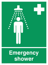shower symbol Text: emergency shower
