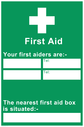first-aiders-information-sign-~