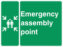 assembly point symbol Text: emergency assembly point