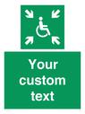 <p>Custom sign safe condition evacuation temporary refuge</p> Text: