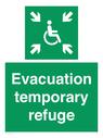 <p>Evacuation temporary refuge</p> Text: