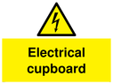 <p>Electrical cupboard sign</p> Text: Electrical cupboard
