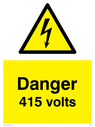 415v-with-electrical-warning-triangle--this-sign-now-commonly-superseded-by-400v~