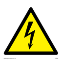 electrical warning triangle Text: None