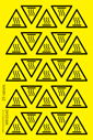 <p>Sheet of Hot Surface symbol triangle stickers</p> Text: Sheet of Hot Surface symbol triangle stickers