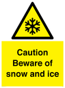 <p>Caution Beware of snow and ice</p> Text: