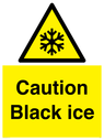 <p>Caution Black ice</p> Text: