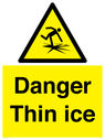 <p>Danger Thin ice</p> Text: Danger Thin ice