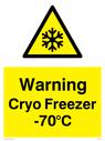 <p>Warning Cryo Freezer -70°C</p> Text: