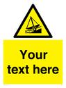 <p>Custom Warning slipway</p> Text: