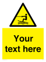 <p>Custom Warning towed water activity area</p> Text: