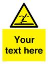 <p>Custom Warning Shallow water diving</p> Text: