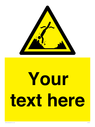 <p>Custom Warning submerged objects</p> Text: