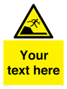 <p>Custom Warning sudden drop in swimming or leisure pools</p> Text: