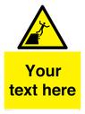 <p>Custom Warning unstable cliff edge</p> Text: