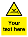 <p>Custom Warning strong currents</p> Text: