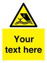 <p>Custom Warning boating area</p> Text: