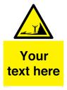 <p>Custom Warning incoming tides</p> Text: