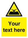 <p>Custom Warning quicksand mud or silt</p> Text: