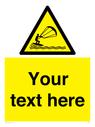 <p>Custom Warning kite surfing</p> Text: