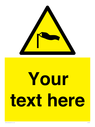 <p>Custom Warning strong winds</p> Text: