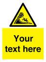 <p>Custom Warning high surf or large breaking waves</p> Text: