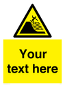 <p>Custom Warning deep shelving beach</p> Text: