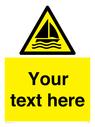 <p>Custom Warning sailing area</p> Text: